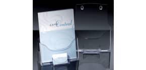Prospekthalter A4hoch transparent SIGEL LH111 Tisch Visitenken Fach Produktbild