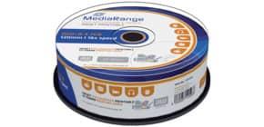 DVD+R 25er Spindel printable MEDIA RANGE MR408 4,7Gb120mi Produktbild