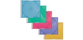 CD-Leerhülle 25ST sortiert Q-CONNECT KF04384 Slim Produktbild