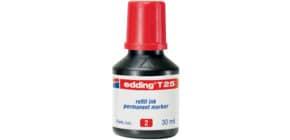 Nachfülltusche 30ml rot EDDING T25-002 Produktbild