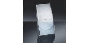 Prospekthalter A4 transparent SIGEL LH130 Tisch Acryl, 3 Fächer Produktbild