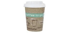 Becher mit Deckel Coffee to go 0.2l HOSTI 36600030 10st: Produktbild