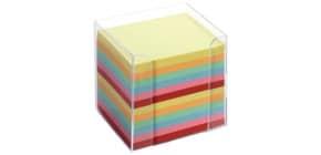 Zettelbox 9,5x9,5x9,5 glasklar FOLIA 9902 Zettel intensivfarben Produktbild