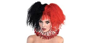 Perücke Jesterina schwarz/rot 845798-55 Produktbild