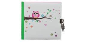 Tagebuch Eule weiß GOLDBUCH 44043  16,5x16,5cm Produktbild