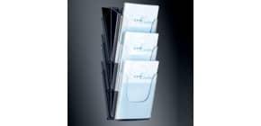 Prospektständer A4 3Fäch trans SIGEL LH135 Wand Acryl Produktbild