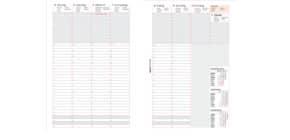 Ersatzkalendarium A5 1W 2S BIND 250819 mit Urlaubsplaner Produktbild