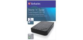 Festplatte 2TB, USB 3.0 VERBATIM 47683 Produktbild