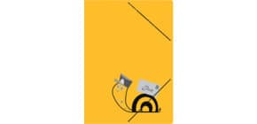 Sammelmappe Postmappe gelb RNK 4658 Schneckenpost Produktbild