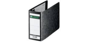 Ordner Pappe A6 quer schwarz LEITZ 1078-00-00 80mm ohne Griffloch Produktbild