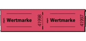 Gutscheinmarke 500 Stück / Rolle rot SIGEL Gr554 Wertmarke Produktbild