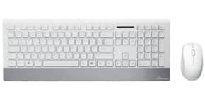 Tastatur +Mausset weiß/silber MEDIA RANGE MROS106 Funk Produktbild