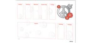 Block-Schreibunterlage 60x42cm RNK 46611  Love & Peace Produktbild