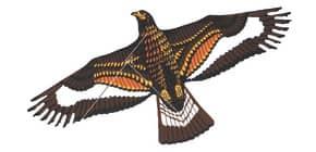 Drachen 71x133cm Raubadler Thomas 31 inkl.Schnur Produktbild