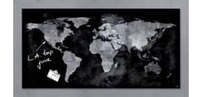 Magnettafel Glas Weltkarte SIGEL GL270 91x46cm Produktbild