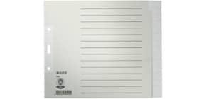 Register A4 blanko grau LEITZ 1224-00-85 Papier 15 teilig Produktbild