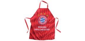 Grillschürze rot Rekordgrillmeister FCBAYERN 21687 Produktbild