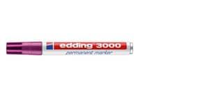 Permanentmarker rotviolett EDDING 3000-020 1,5-3mm Produktbild