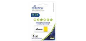 USB Stick 16GB gelb MEDIA RANGE MR972 2.0 Produktbild