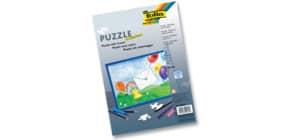 Puzzle 35tlg.blanko weiß FOLIA 2332 A4 m.Rahmen Produktbild