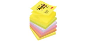Haftnotizblock Z-Notes neon rainbow POST IT R330NR Z Notes 76x76 Produktbild