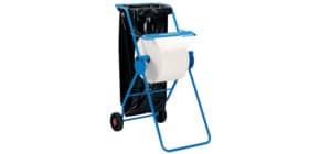 Rollenhalter fahrbar blau WYPALL 6155 Großrolle Produktbild