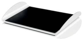 Fußstütze Ergo WOW schwarz/weiß LEITZ 6503-00-95 höhenverstellbar Produktbild