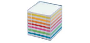 Zettelbox 9,5 x 9,5 x 9,5 glasklar FOLIA 9903 Papier weiss+farbig Produktbild