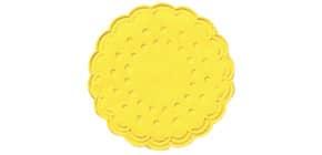 Tassenuntersetzer  brill.gelb DUNI 351836 Zellt. D7,5cm 25ST Produktbild