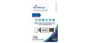 USB Stick 8GB 2.0 MEDIA RANGE MR930 +MicroUSB Produktbild
