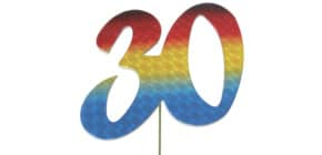 Jubiläumszahl 30 bunt 2514030 Produktbild