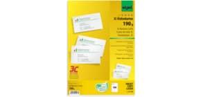 Visitenkarte A4 100 Stück weiß SIGEL LP790 190 g 10 Blatt Produktbild