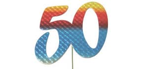 Jubiläumszahl 50 bunt 2514050 Produktbild