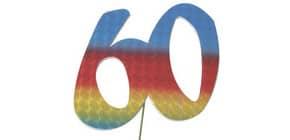Jubiläumszahl 60 bunt 2514060 Produktbild