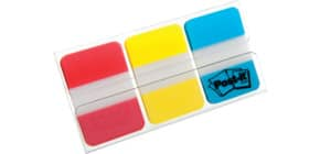 Index 25,4x38mm sort. POST IT 686 RYB 3x22 rt/gb/bl Produktbild