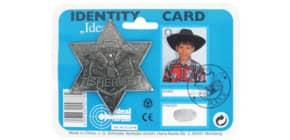 Sheriffstern Metall antik IDEAL 711 0778 8cm D.auf Karte Produktbild