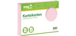 Karteikarte A4 quer 100 Stück rosa RNK 114743 blanko Produktbild