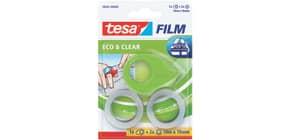 Mini-Abroller ecoLogo+2Rl Film TESA 58241-00000-00  19mm 10m Produktbild