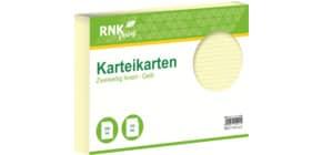 Karteikarte A4 quer 100 Stück gelb RNK 115041 liniert Produktbild