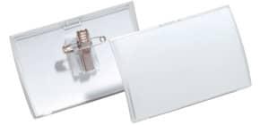 Namensschild 25ST 40x75mm transp. DURABLE 8211 19 Click Fold Produktbild