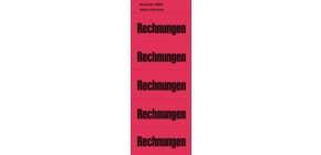 Inhaltsschild Rechnungen rot NEUTRAL 5896  selbstklebend 100 Stück Produktbild