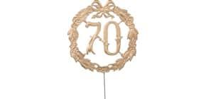 Jubiläumszahl D13cm 70 gold DEMMLER 1230700192 Draht Produktbild