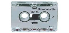 Mini-Kassette 5ST 2x22,5 Minuten weiß WMC 24128 Produktbild