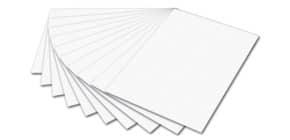Tonpapier 50x70cm weiß FOLIA 6700 E 130g Produktbild