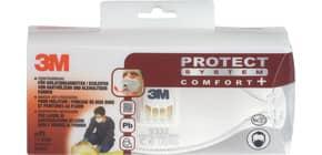 Atemschutzmaske Komfort weiß 3M 9332+C mit Ventil Produktbild