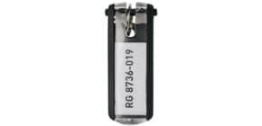 Schlüsselanhänger schwarz DURABLE 1957 01 6ST KEY CLIP Produktbild