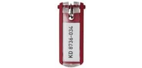 Schlüsselanhänger rot DURABLE 1957 03 6ST KEY CLIP Produktbild