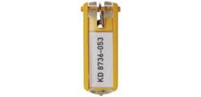 Schlüsselanhänger gelb DURABLE 1957 04 6ST KEY CLIP Produktbild