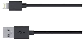 Ladekabel Lightning schwarz MEDIARANGE MRCS137 iPhone 5/5 Produktbild
