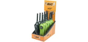 Feuerzeug Megalighter schwarz/grün BIC 893899 i. Display Produktbild